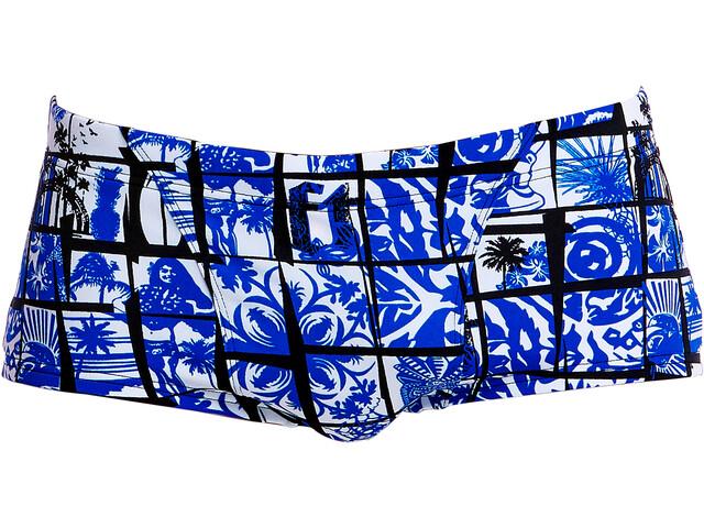 Funky Trunks Classic - Bañadores Hombre - azul/blanco